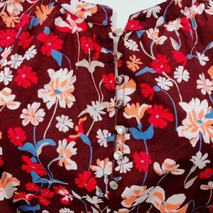 Tommy Hilfiger Tops - TOMMY HILFIGER FLORAL PRINT BROOKSHIRE BLOUSE NWT
